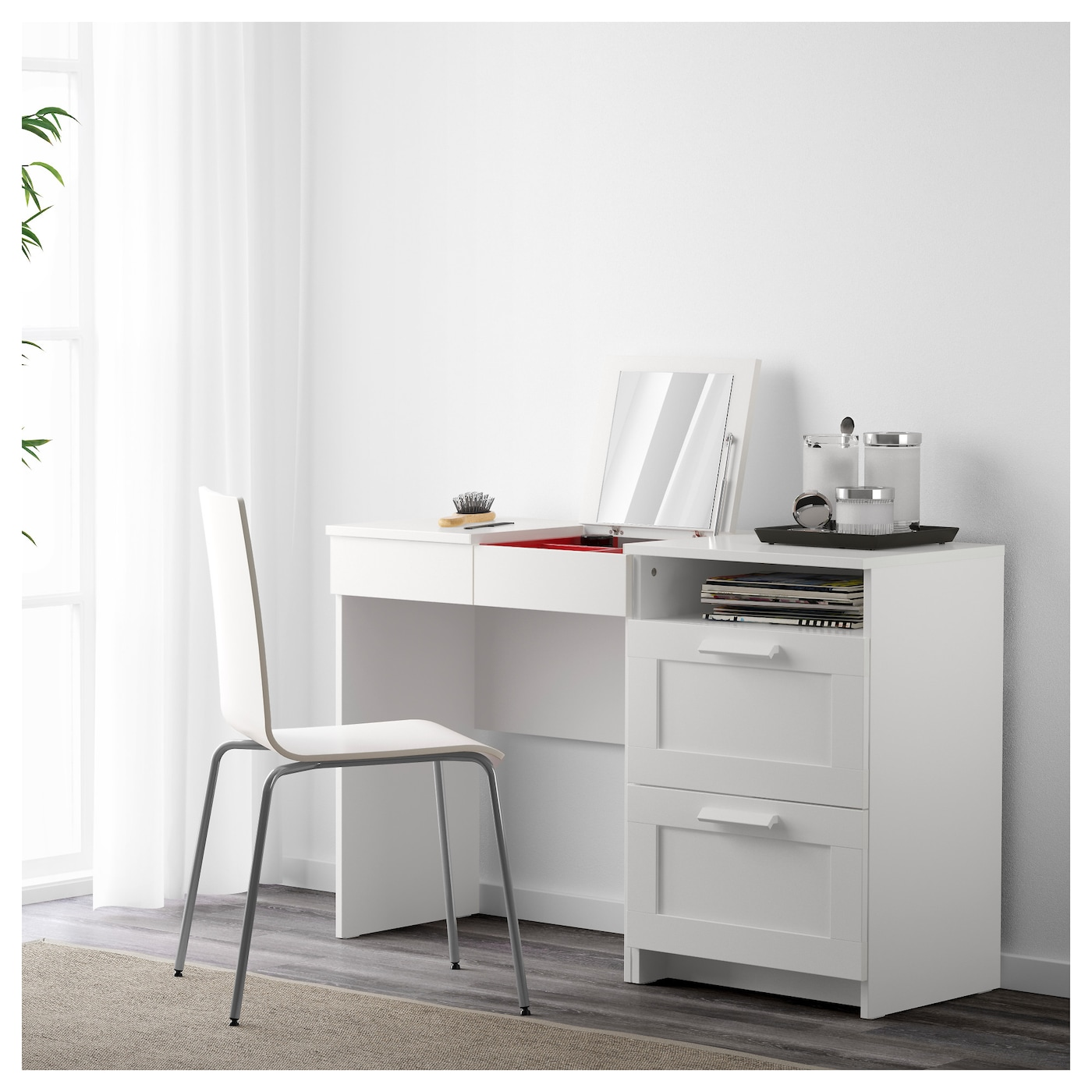 Brimnes dressing table chest of 2 drawers white ikea - Caisson dressing ikea ...