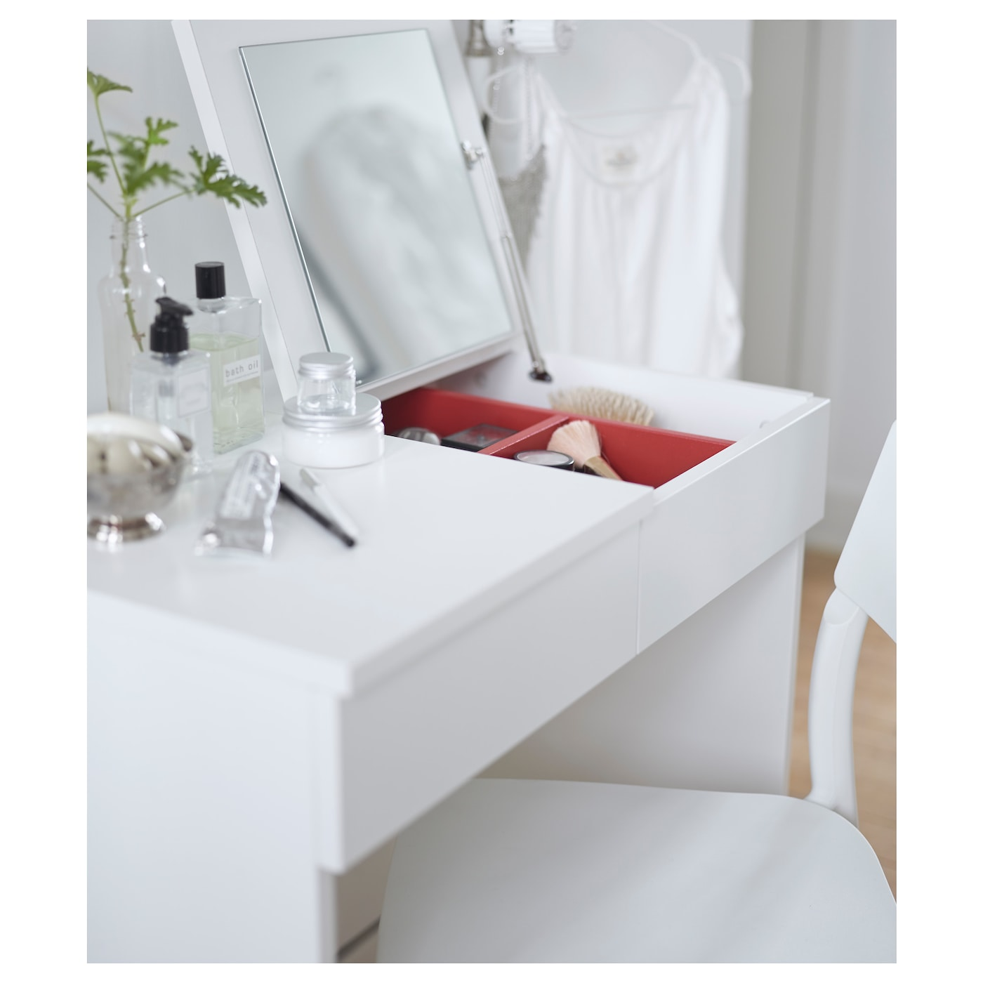 Brimnes dressing table white 70x42 cm ikea for Beauty parlour dressing table images