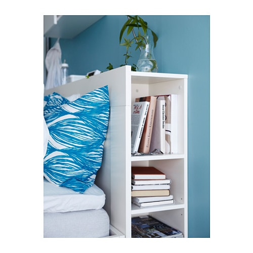 Brimnes headboard with storage compartment white standard - Lit avec rangement 160 ...