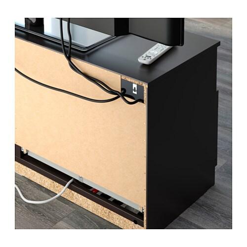 BRIMNES TV bench Black 120×53 cm IKEA