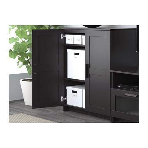 BRIMNES TV storage combination Black 260x41x190 cm IKEA