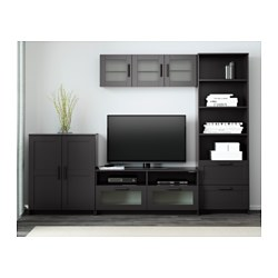 Brimnes tv storage combination black 260x41x190 cm ikea - Ikea muebles salon tv ...