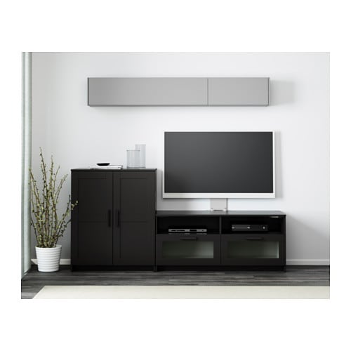 Brimnes tv storage combination black 200x41x95 cm ikea - Ikea muebles salon tv ...