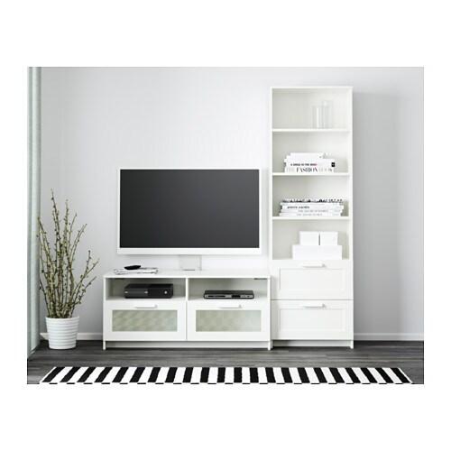 Brimnes tv storage combination white 180x41x190 cm ikea - Ikea mesas de tv ...