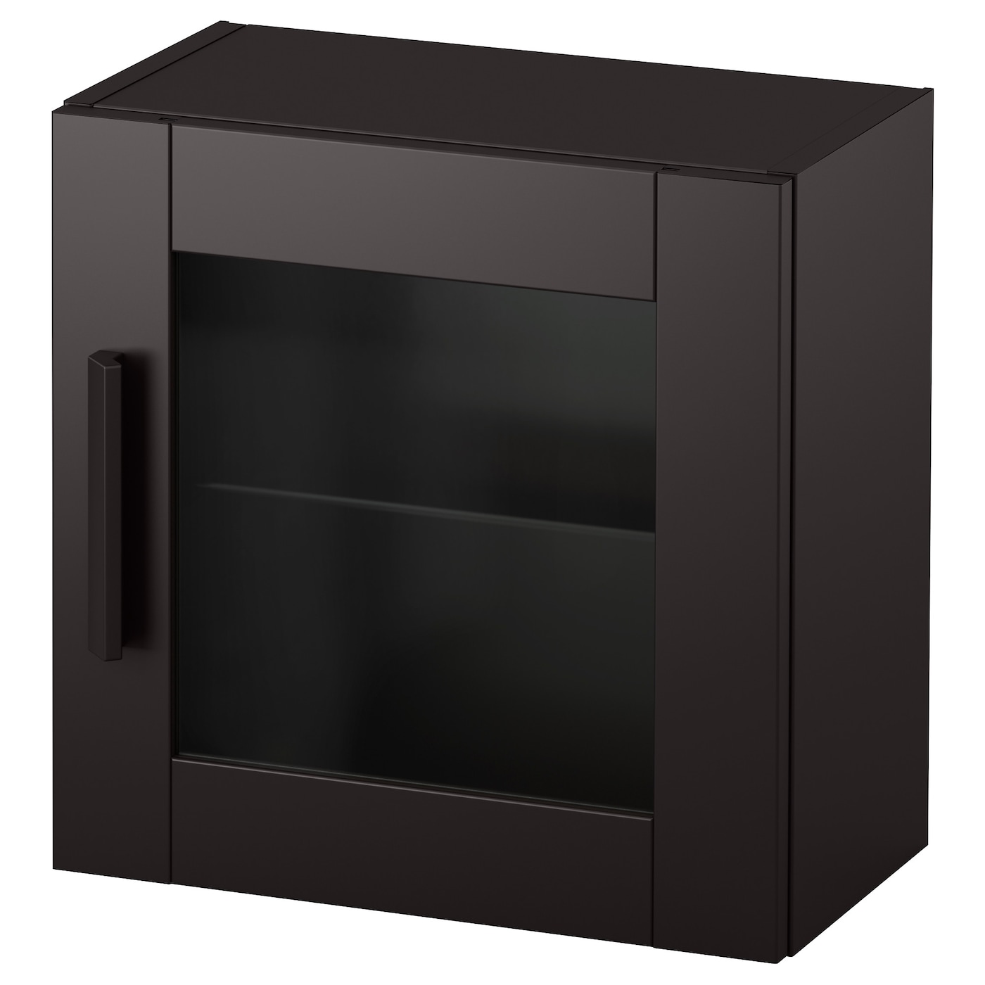 brimnes wall cabinet with glass door black 39x39 cm ikea. Black Bedroom Furniture Sets. Home Design Ideas