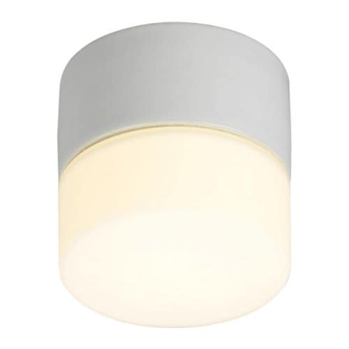 BROMÖLLA Ceiling/wall lamp IKEA Diffused light; gives a general light.  Mouth blown glass; each lamp is unique.