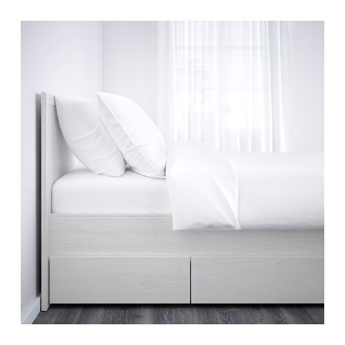 ikea brusali bed frame with 4 storage boxes - Ikea Bed Frame With Storage