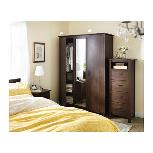brusali chest of 4 drawers brown 51x134 cm ikea. Black Bedroom Furniture Sets. Home Design Ideas