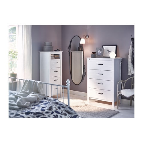 brusali chest of 4 drawers white 80x117 cm ikea