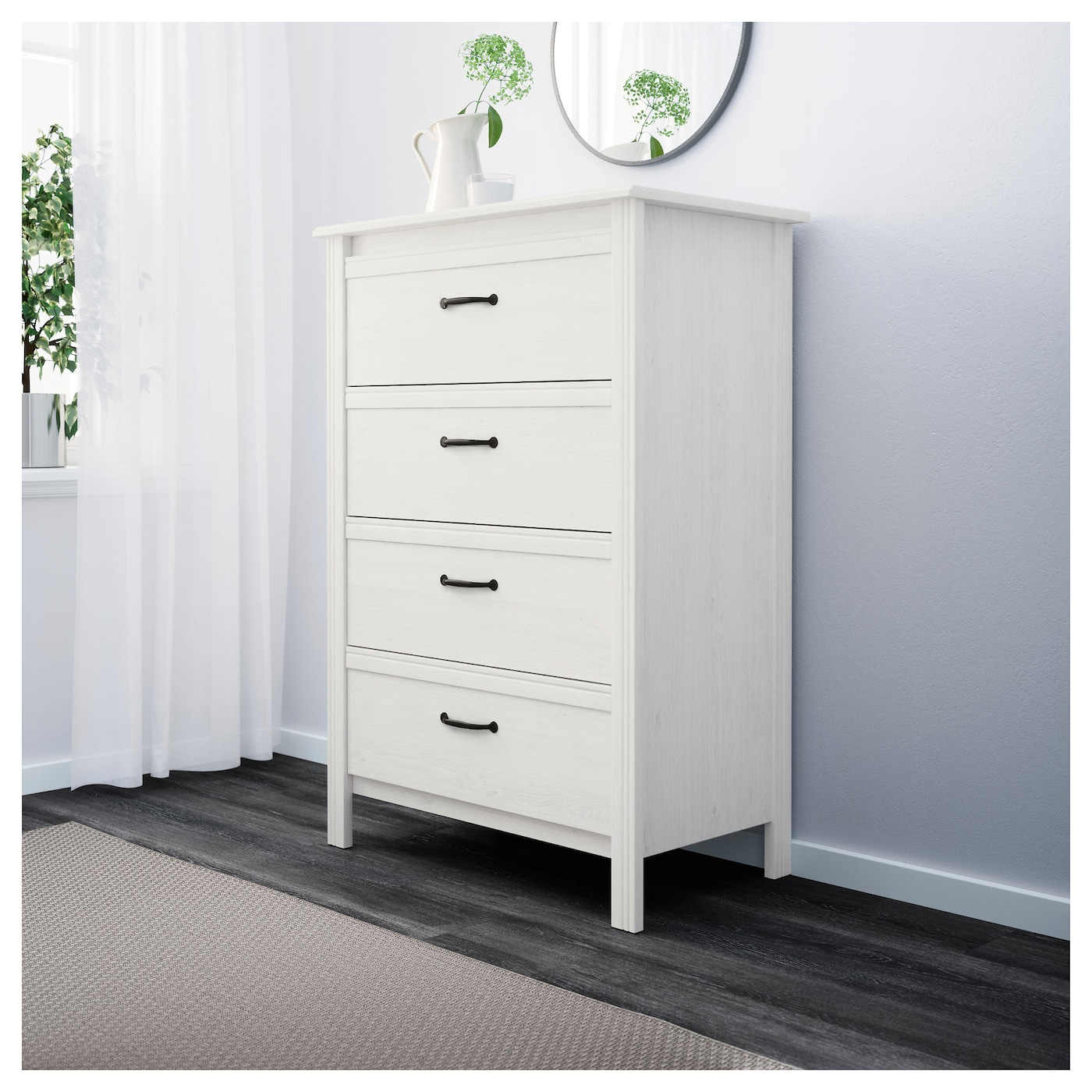 ikea brusali chest of 4 drawers smooth running drawers with pull out