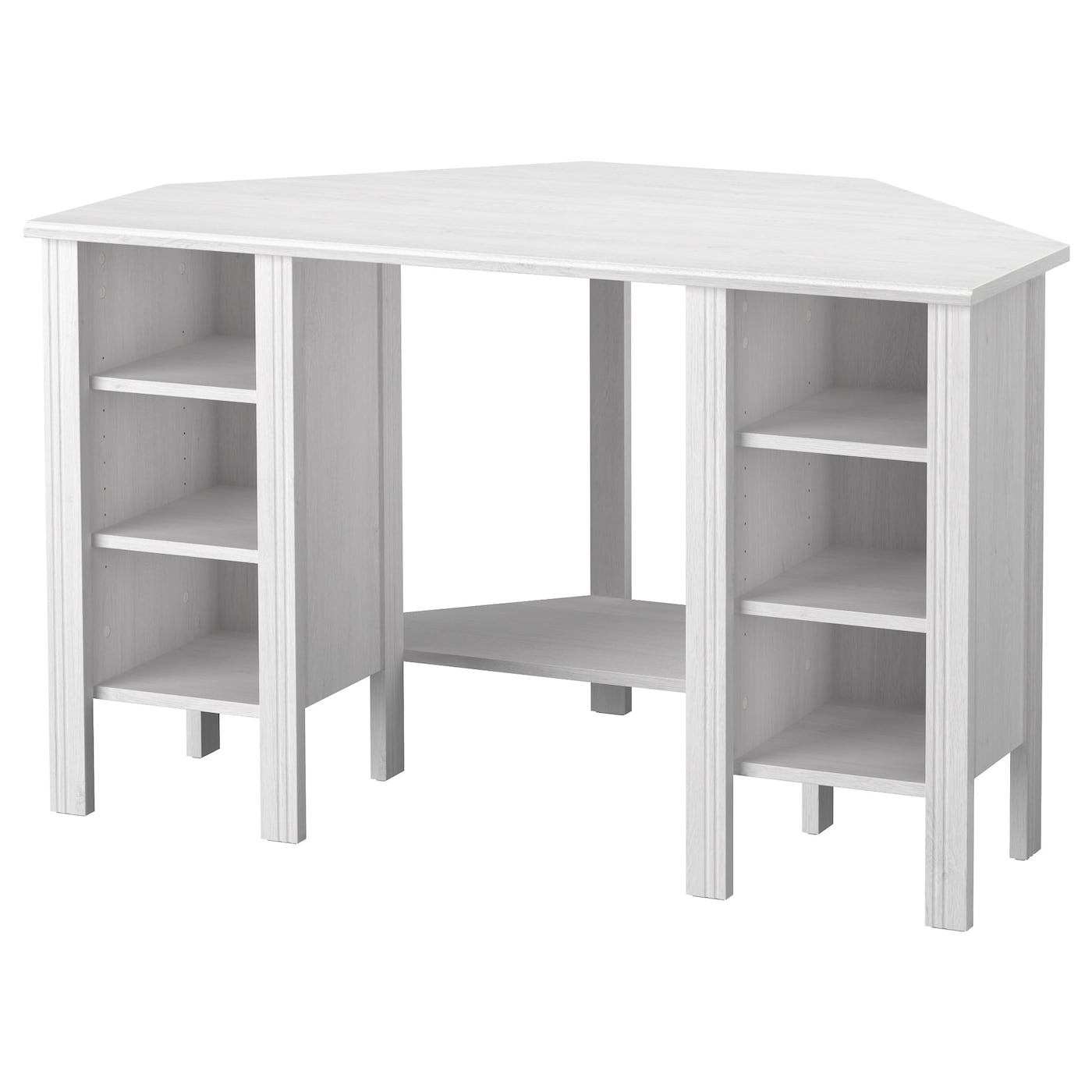 IKEA BRUSALI corner desk You can customise your storage as needed, since  the shelves are