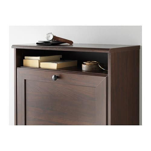 BRUSALI Shoe cabinet with 3 compartments Brown 61x130 cm - IKEA