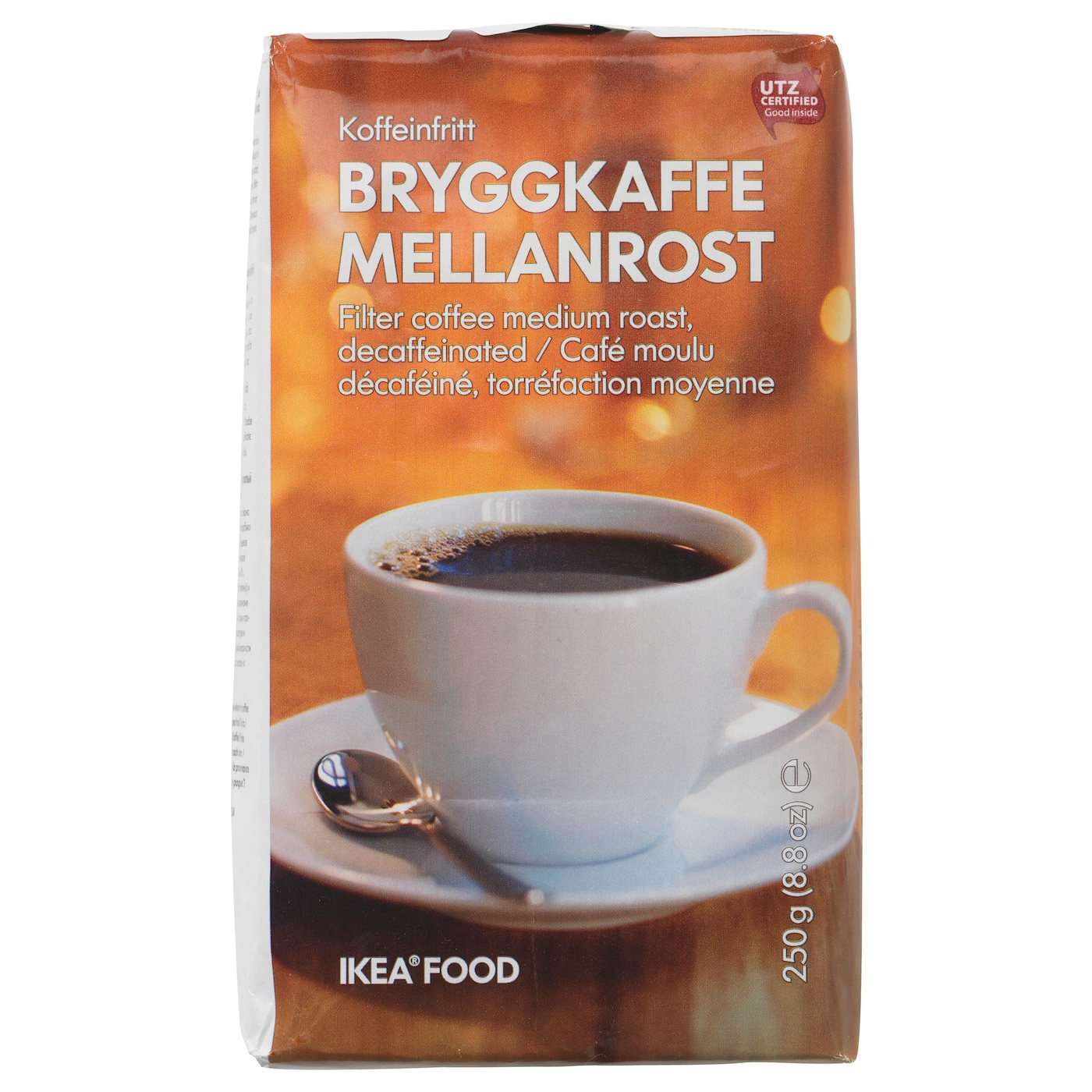IKEA BRYGGKAFFE MELLANROST decaffeinated coffee