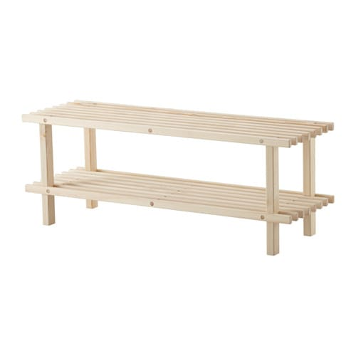 Bundis Shoe Rack Solid Wood 79 Cm Ikea