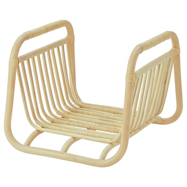 BUSKBO Magazine stand, rattan, 41x37 cm