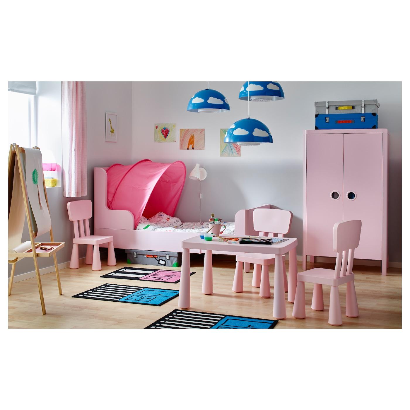 busunge extendable bed light pink 80x200 cm ikea. Black Bedroom Furniture Sets. Home Design Ideas