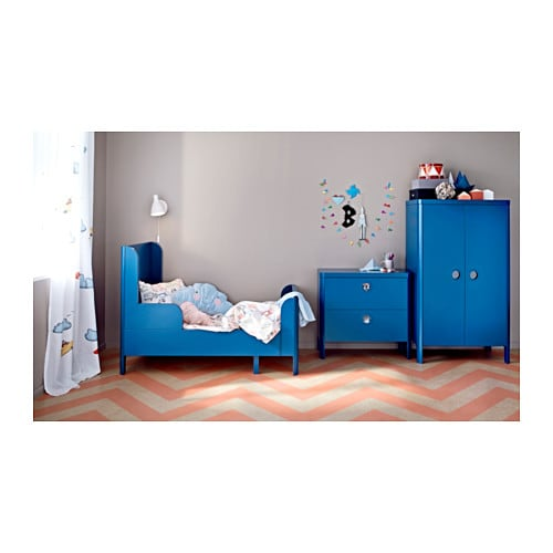 Ikea Blue Bed Of Busunge Extendable Bed Medium Blue 80x200 Cm Ikea