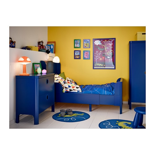 ikea childrens beds busunge extendable bed medium blue 80x200 cm ikea 11812