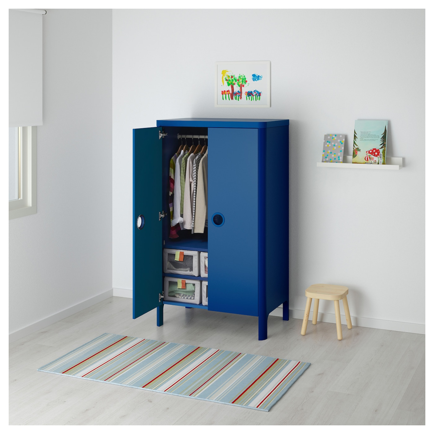Superbe IKEA BUSUNGE Wardrobe You Can Adjust The Height Of The Clothes Rail And  Shelves As Your