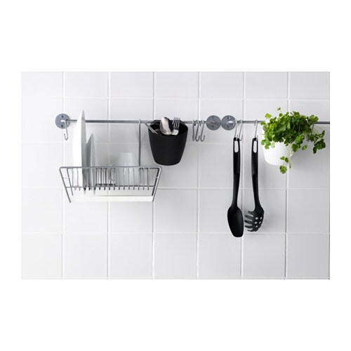 IKEA BYGEL rail Can also be used as a towel rail Saves space on the worktop