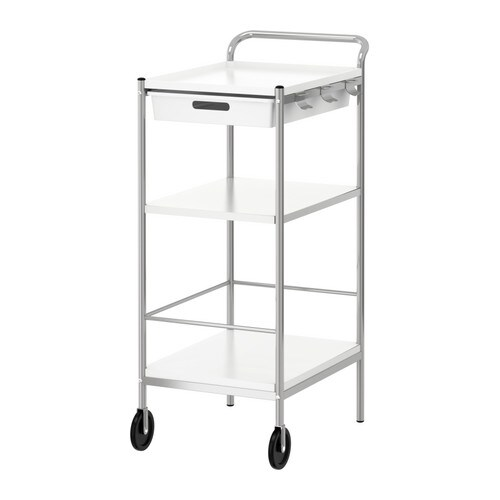 IKEA BYGEL trolley The top of the trolley is reversible and can be used as a tray.