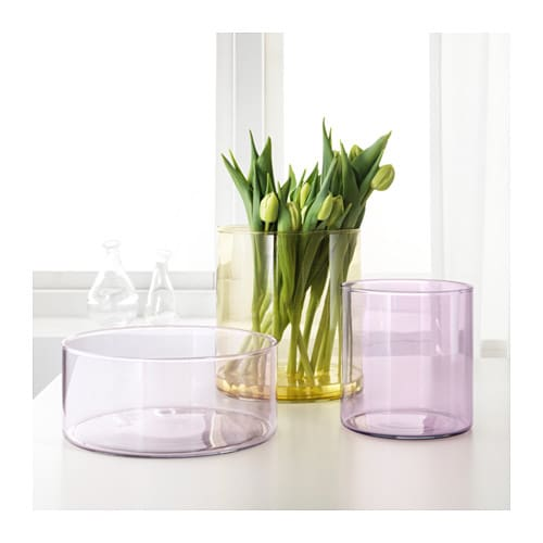 cylinder vase bowl set of 3 multicolour ikea. Black Bedroom Furniture Sets. Home Design Ideas