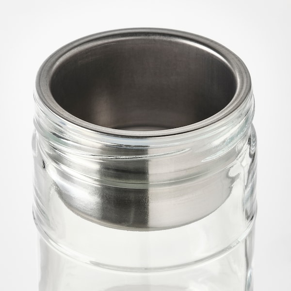 DAGKLAR Jar with insert, clear glass/stainless steel, 0.4 l