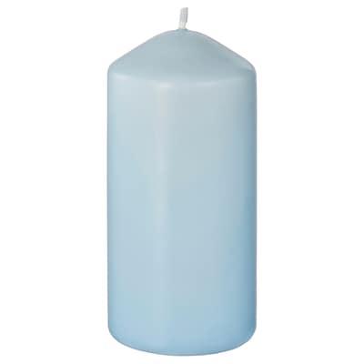 DAGLIGEN unscented block candle light blue 14 cm 6.8 cm 40 hr