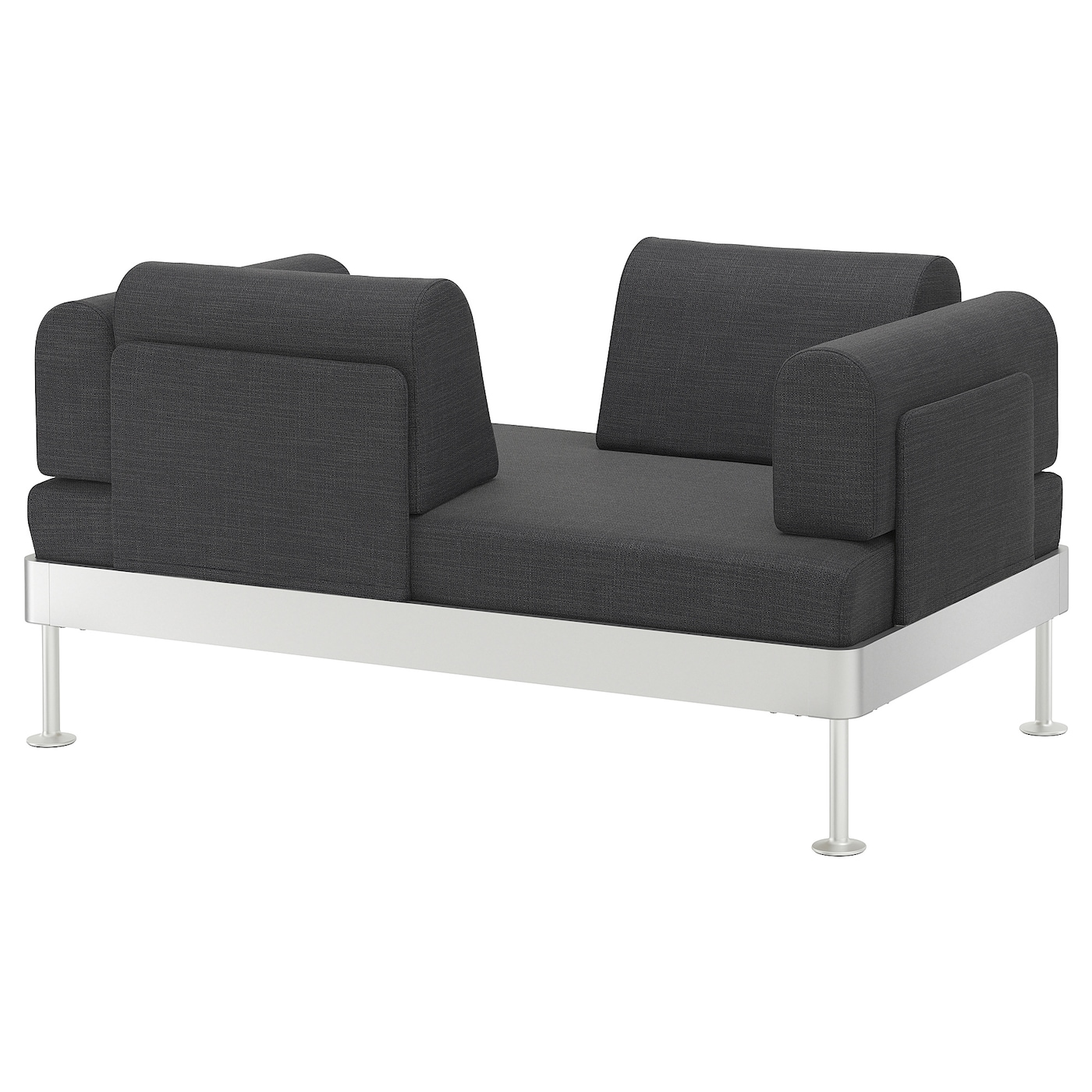 delaktig 2 seat sofa hillared anthracite ikea. Black Bedroom Furniture Sets. Home Design Ideas