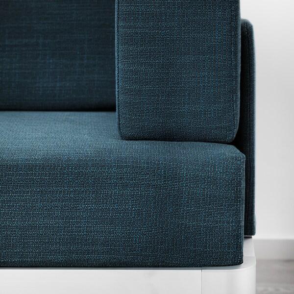 DELAKTIG 2-seat sofa, Hillared dark blue