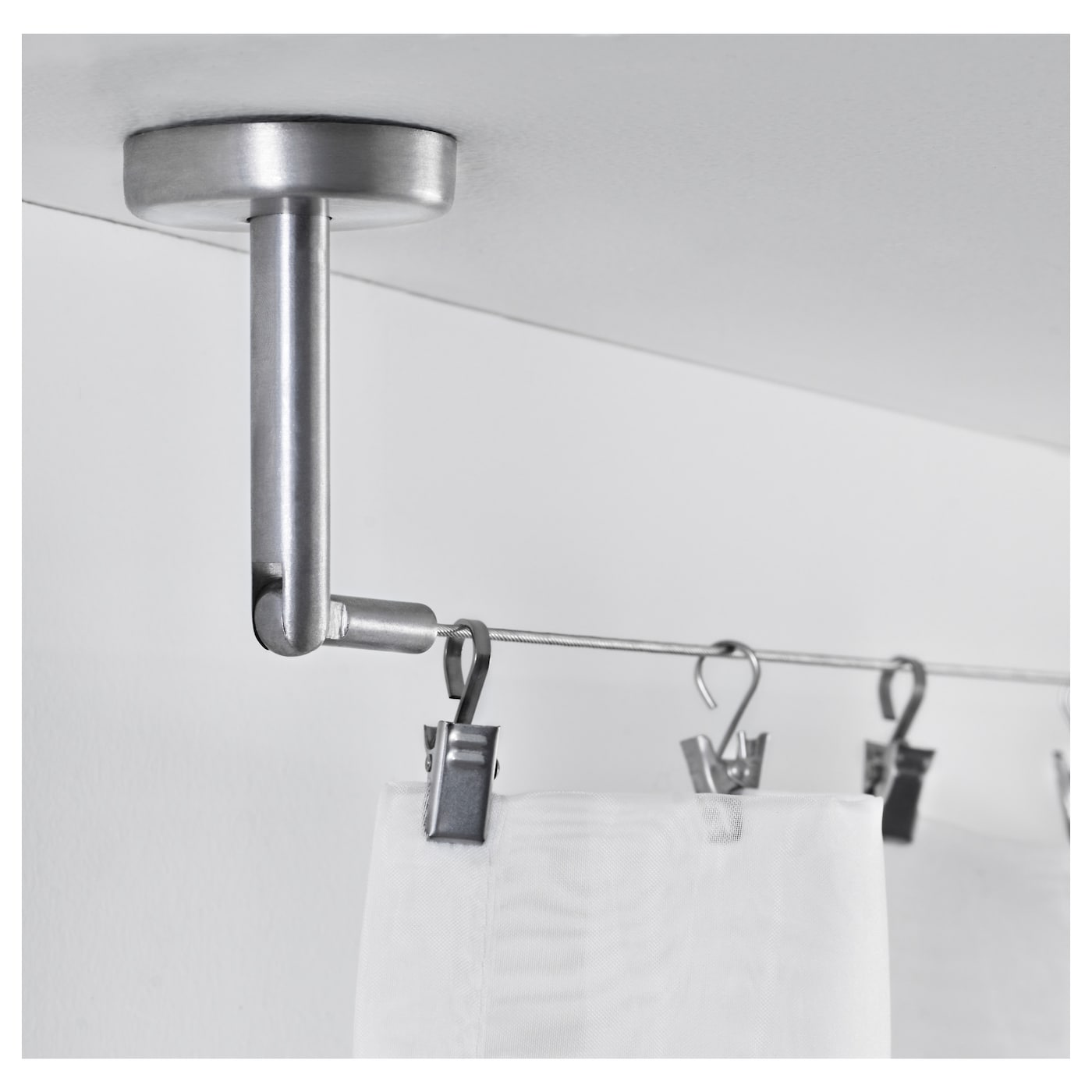 IKEA DIGNITET curtain wire Fittings with adjustable angle for more flexible use.