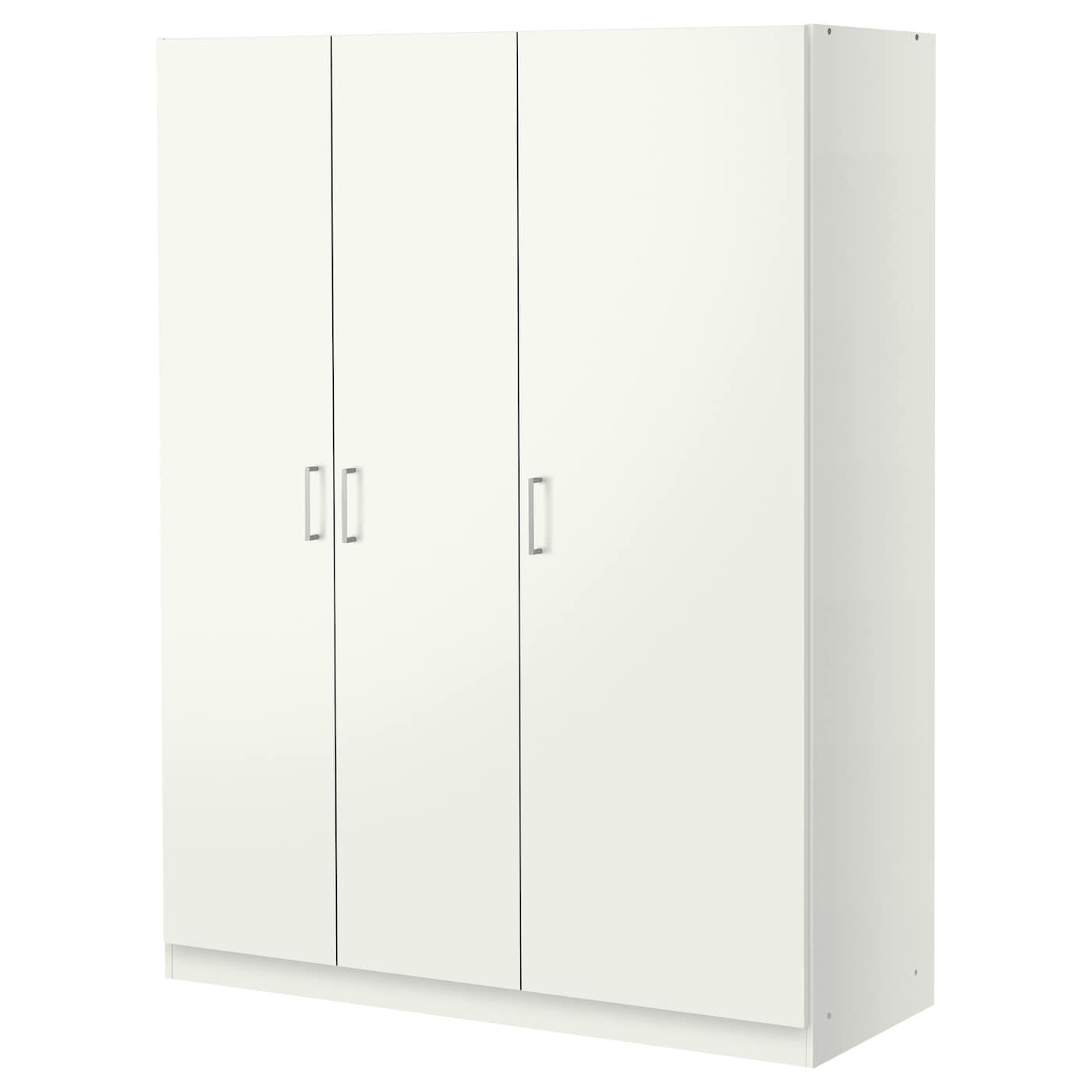 kvikne wardrobe with 2 sliding doors white 120x190 cm ikea. Black Bedroom Furniture Sets. Home Design Ideas