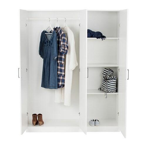 Domb s wardrobe white 140x181 cm ikea - Tringle penderie basculante ikea ...