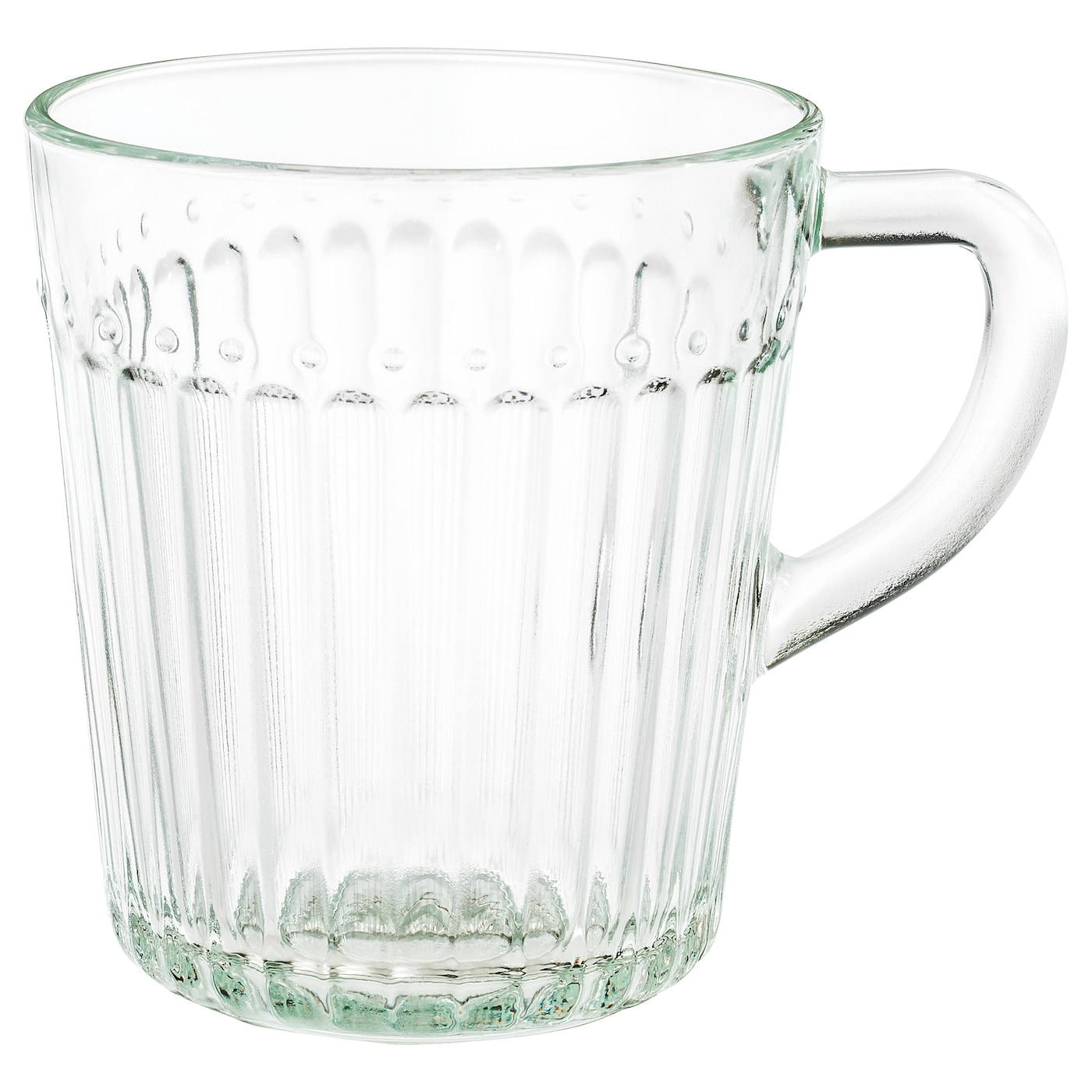 IKEA DRÖMBILD mug Made of tempered glass, which makes the mug durable and extra resistant to impact.