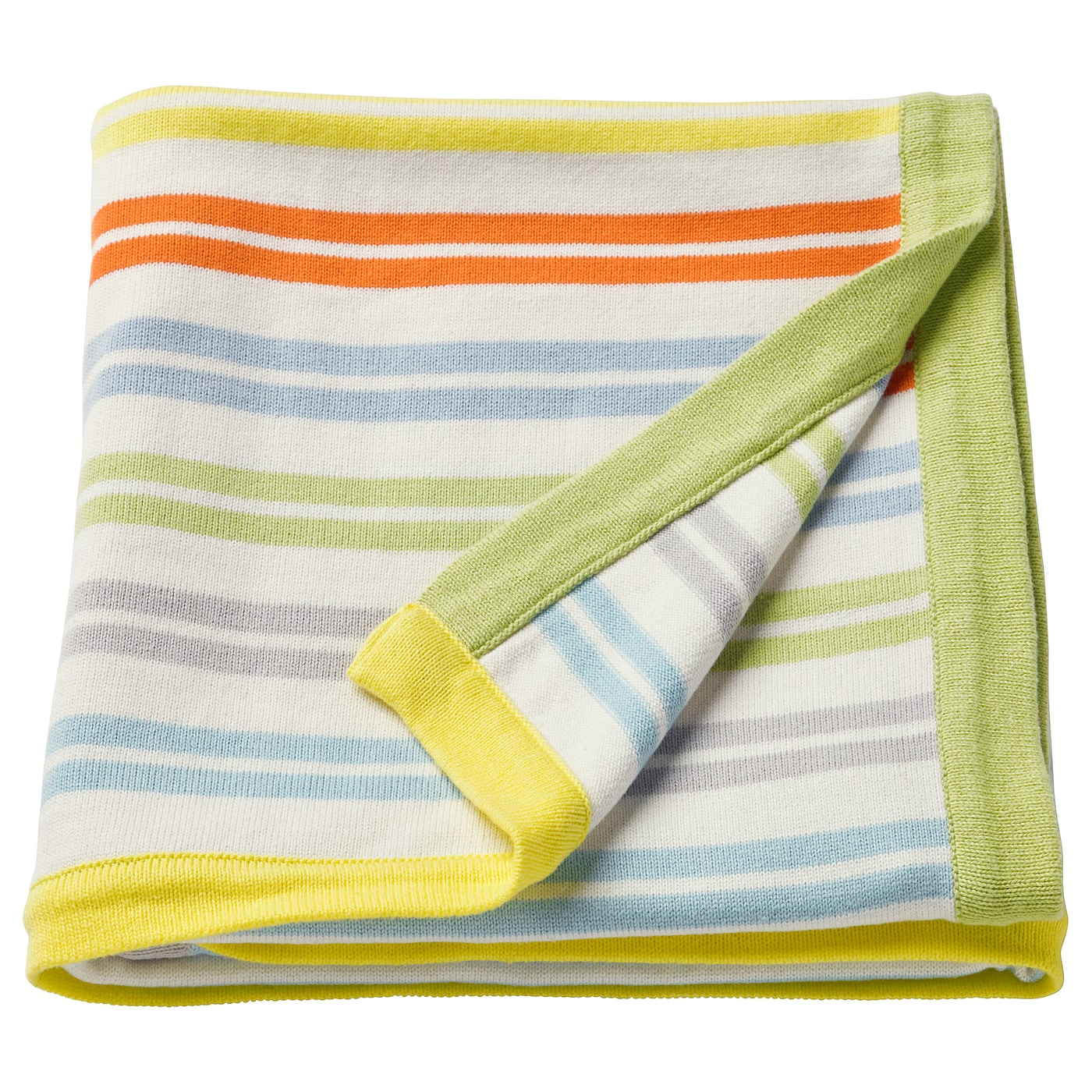 IKEA DRÖMLAND blanket The yarn-dyed fabric keeps both its shape and colour, wash after wash.