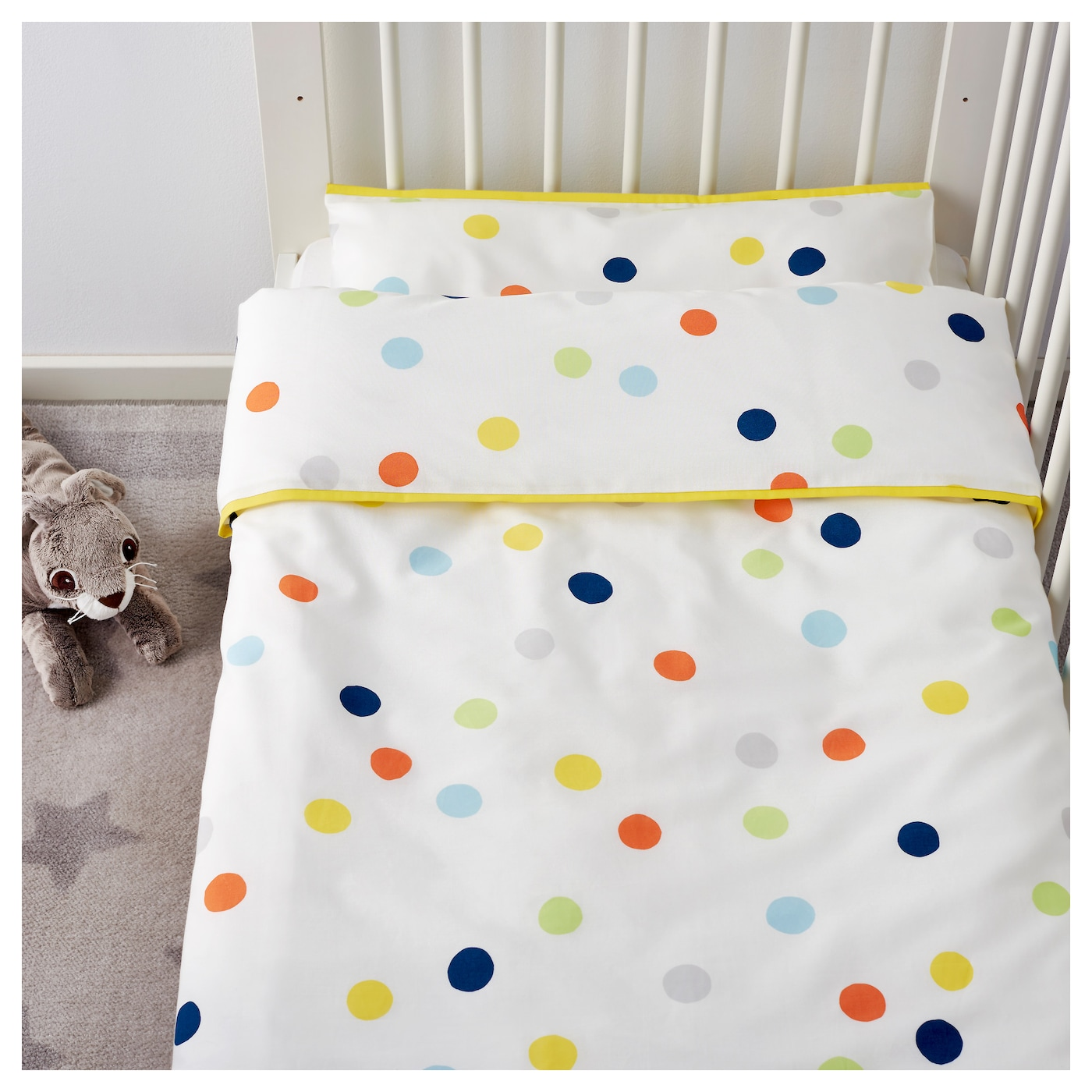 IKEA DRÖMLAND quilt cover/pillowcase for cot Easy to keep clean; machine wash hot (60°C).