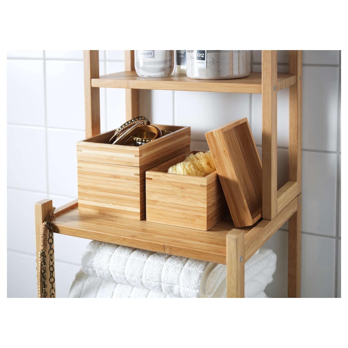 Dragan 2 piece bathroom set bamboo ikea for Accessoires salle de bain ikea