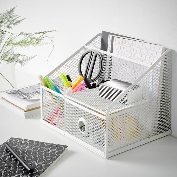DRÖNJÖNS Desk organiser, white, 25x20 cm