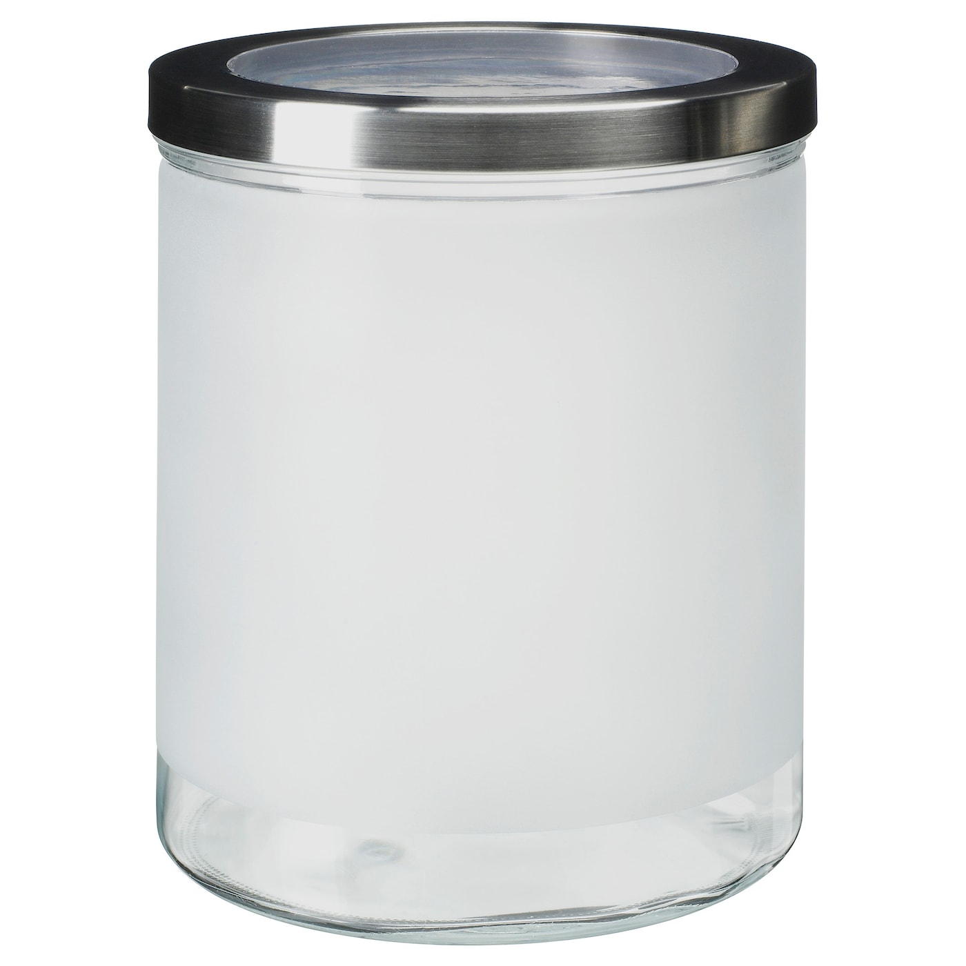 droppar jar with lid frosted glass stainless steel 3 5 l ikea. Black Bedroom Furniture Sets. Home Design Ideas