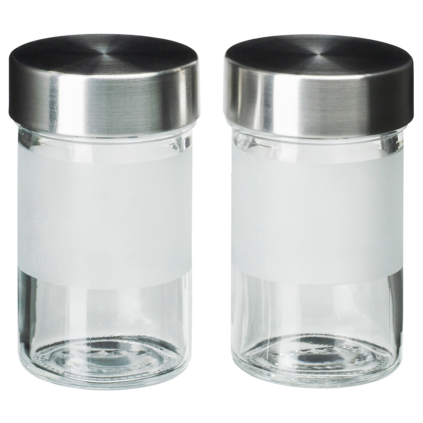 droppar spice jar frosted glass stainless steel 9 cl ikea. Black Bedroom Furniture Sets. Home Design Ideas