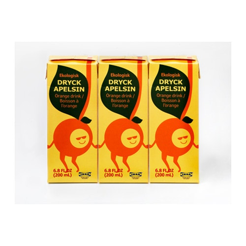 IKEA DRYCK APELSIN orange drink Organic; includes no artificial ingredients or preservatives.