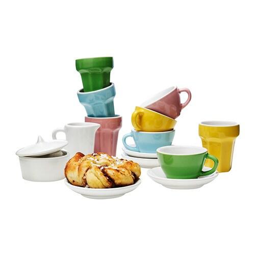 Duktig 10 piece coffee tea set multicolour ikea - Ikea duktig play food ...