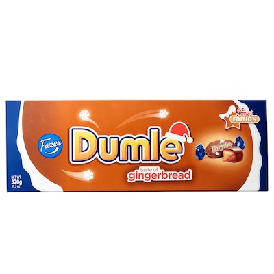 DUMLE Chocolate covered toffees, gingerbread-flavour
