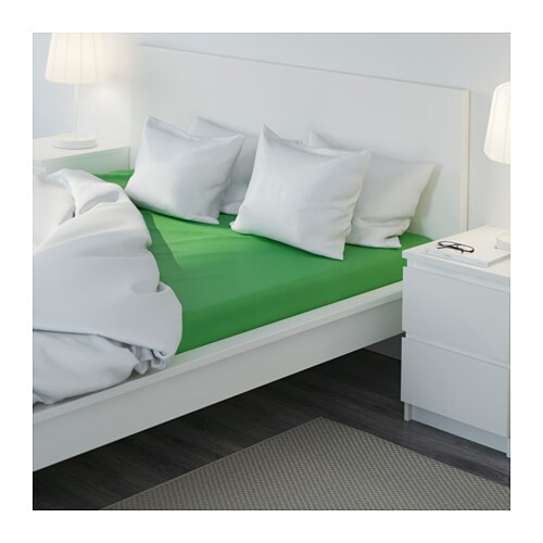 dvala fitted sheet green 160x200 cm ikea. Black Bedroom Furniture Sets. Home Design Ideas