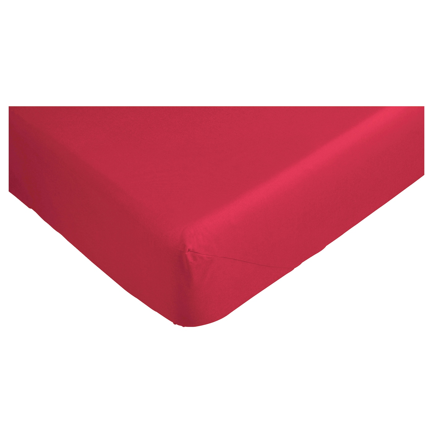 Dvala fitted sheet red single ikea for Drap housse ikea