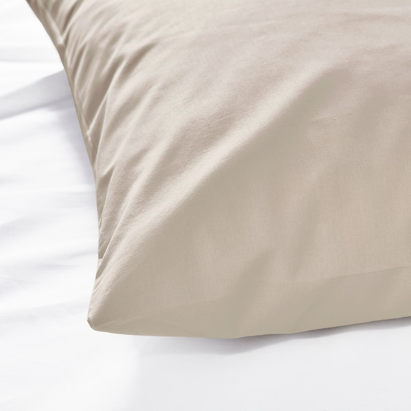 DVALA Pillowcase, beige, 50x80 cm