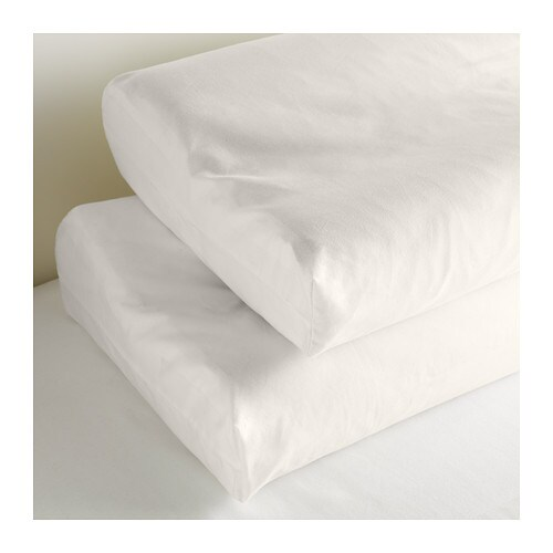 IKEA DVALA pillowcase for memory foam pillow Cotton, feels soft and nice against your skin.