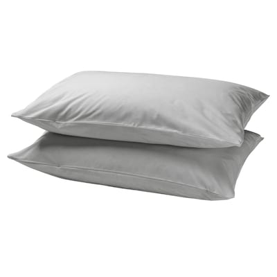 DVALA Pillowcase, light grey, 50x80 cm