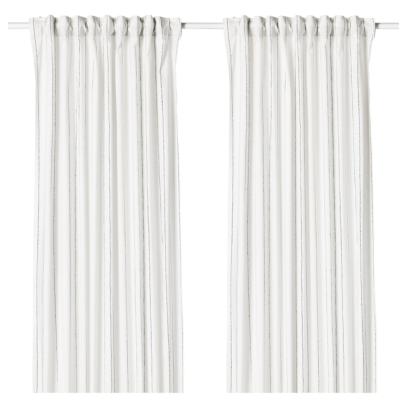 IKEA EBBALISA curtains, 1 pair The curtains can be used on a curtain rod or a curtain track.