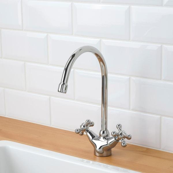 EDSVIK Dual-control kitchen mixer tap, chrome-plated